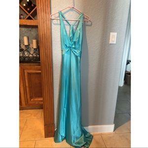 Aqua Long Prom Dress